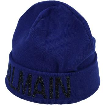 《期間限定セール開催中!》BALMAIN レディース 帽子 ブルー XS ウール 64% / カシミヤ 35% / ポリエステル 1%