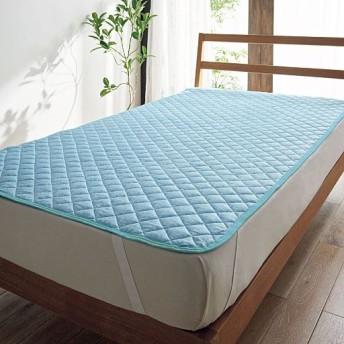 涼感パッドシーツ(ベーシック) - セシール ■カラー:ブルー ピンク ■サイズ:シングル(100×205cm)
