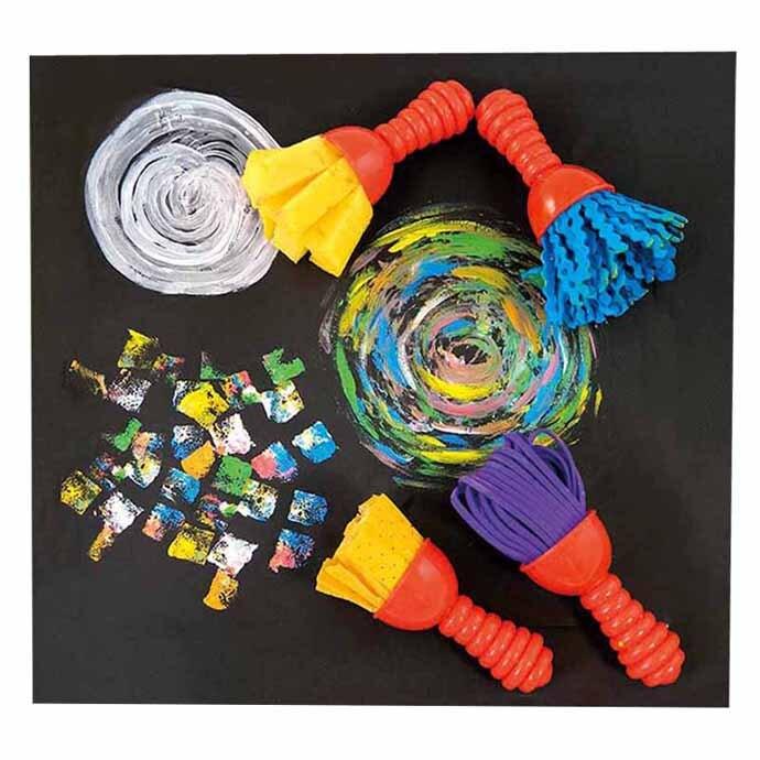 【華森葳兒童教玩具】美育教具系列-迷你花紋刷筆-塗鴉風格 L1-RE/2026/TW2