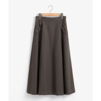le.coeur blanc / ルクールブラン ツイード調フラップポケットフレアスカート