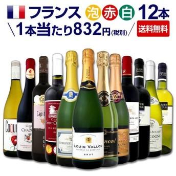 全てフランスワイン 泡赤白ワイン12本セット wine set France