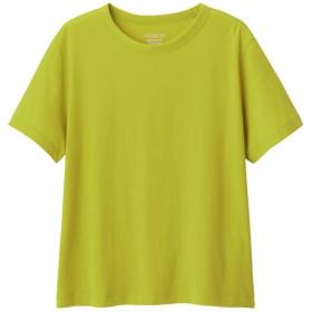 (GU)カラークルーネックT(半袖) GREEN XS