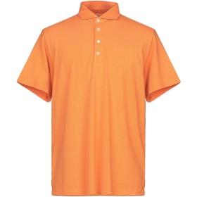 《期間限定セール開催中!》FEDELI メンズ ポロシャツ オレンジ 54 コットン 100%