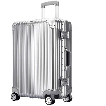 SAHASAHA そこスーツケースキャリーケースキャリーバッグキャリーオンハードTSAロックハードキャリージッパーすべてのサイズサイズから目立つジッパー傷(シルバーアルミフレーム、キャビンサイズ(1-3夜/約41リットル)) 機内持込サイズ(1-3泊/約41リットル) シルバーアルミフレーム