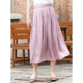 【大きいサイズレディース】≪新作≫【L-3L展開】グロッシーフレアスカート スカート フレアスカート