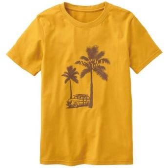 50%OFF【レディース】 プリントTシャツ(S-5L・綿100%・半袖) - セシール ■カラー:マスタード ■サイズ:LL,L,M,S