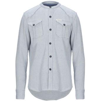 《9/20まで! 限定セール開催中》ITALOGY メンズ シャツ ブルー S コットン 98% / ポリウレタン 2%