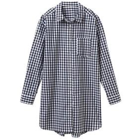 【レディース】 UVケアロングシャツ - セシール ■カラー:ギンガムチェック ■サイズ:M,S,LL,L