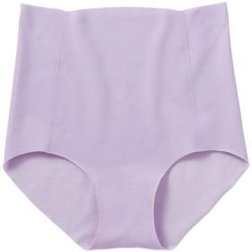 【レディース】 無縫製の切りっぱなし綿混ショーツ(100%シームレス・日本製) - セシール ■カラー:スィートパープル ■サイズ:L,LL,S,M