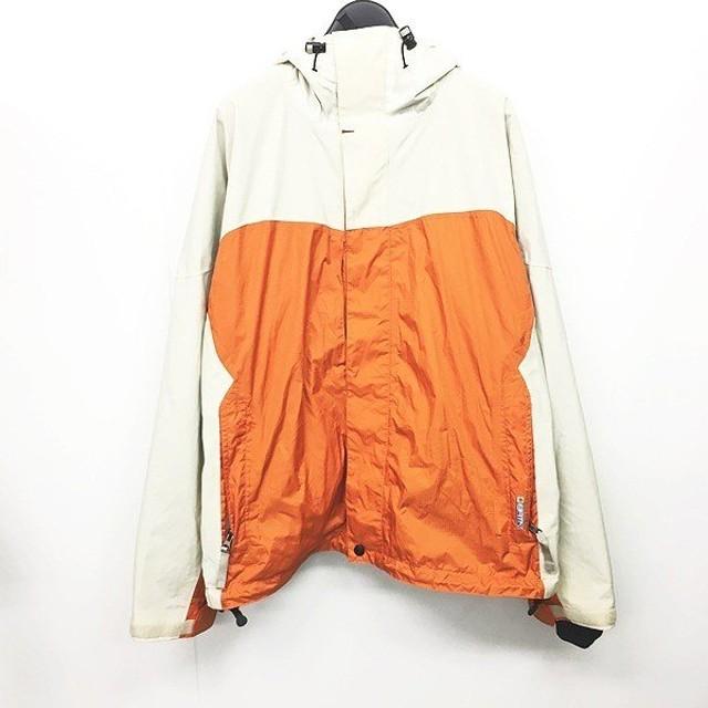 【中古】バートン BURTON access スキー スノーボード ウェア ジャケット ブルゾン 白 ホワイト アイボリー オレンジ M IBS26 0803 レディース 【ベクトル】