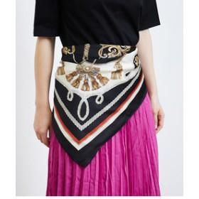 【ROPE' PICNIC:ファッション雑貨】タッセルローププリントスカーフ