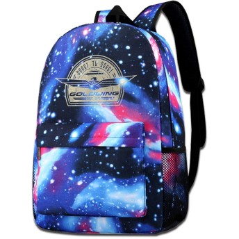 Goldwing-Retro Galaxy School Backpack,Space School Bag Student Stylish Unisex Laptop Book Bag Rucksack Daypack For Teen Boys And Girls
