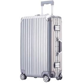 (P.I.) スーツケース キャリーケース アルミフレーム レトロ 静音8輪 若者 TSAロック スマホスタンド