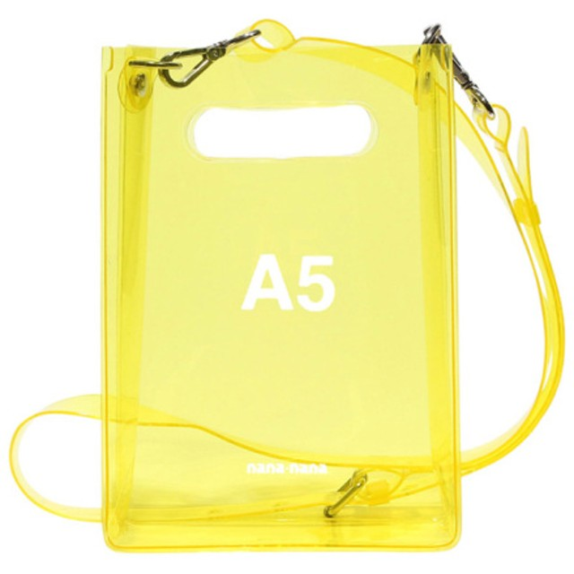 nana-nana 【nana-nana】PVC A5 BAG YELLOW F