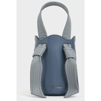 【2019 FALL 新作】ノットハンドルバケツバッグ / Knotted Handle Bucket Bag (Light Blue)