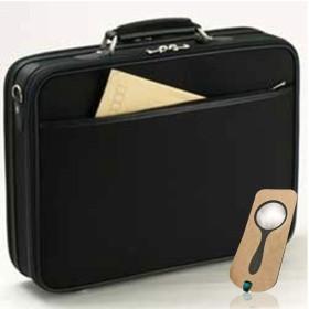 アタッシュケース メンズ B4F 2ルーム 42cm 日本製 豊岡製鞄 ビジネスバッグ PHILIPE LANGLET #21122 しおり型ルーペ付き
