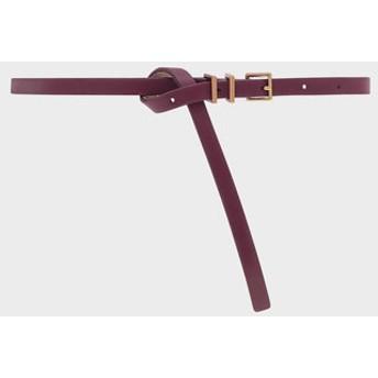 スキニーベルト / Skinny Belt (Burgundy)