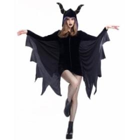 ハロウィンコスプレ コウモリ   悪魔 魔女 妖魔 ハロウィン 仮装 仮装衣装 コスプレコスチューム コウモリ 大人用 ハロウィン衣装  バ