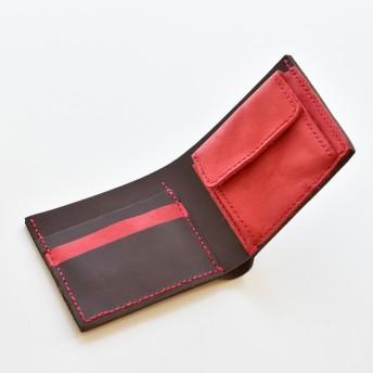 革 財布 二つ折り財布