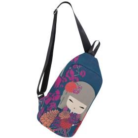 ボディバッグ 日本 こけし 斜めがけ ワンショルダー 防水 おしゃれ 人気 軽量 旅行用 ビジネス 通勤 通学 アウトドア 男女兼用