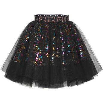 (ムアドレス)MUADRESS レディース スカート ミニ 6重チュール スパンコール飾り ボリューム ウエストゴム 伸縮 裏地あり チュチュ ダンス 大きいサイズ ブラック Lサイズ