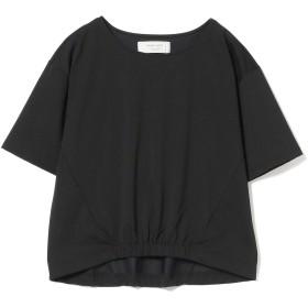 [ビームスライツ] Tシャツ 手洗い可能 フロント裾ゴム プルオーバー レディース ブラック ONE SIZE