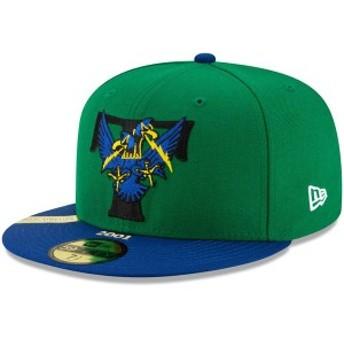 ニューエラ メンズ 帽子 アクセサリー Trenton Thunder New Era 100th Anniversary Patch 59FIFTY Fitted Hat Green