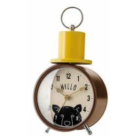 インターフォルム 置時計 リトルウォッチャーズ ベルクロック ブラウン