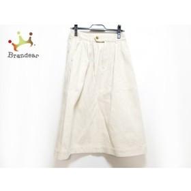 マーガレットハウエル MHL. ロングスカート サイズ1 S レディース 美品 アイボリー×ブラウン    値下げ 20200115