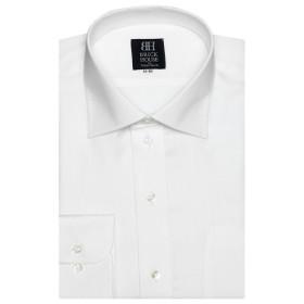 [マルイ] 形態安定 ノーアイロン 長袖ワイシャツ ワイド 白×斜めストライプ織柄 標準体/ブリックハウス(BRICKHOUSE)