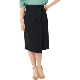 (ノーリーズ) NOLLEY'S ウエストリボン麻混合繊スカート 9-0035-2-06-003 38 ネイビー