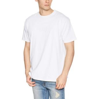 [ルーカ] [メンズ] 半袖 プリント Tシャツ (スタンダードFIT)[ AJ041-229 / FLIP SMALL RVCA SS TEE ] おしゃれ ロゴ ANW_アンティークホワイト US M (日本サイズM相当)