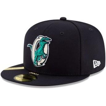 ニューエラ メンズ 帽子 アクセサリー Ogden Raptors New Era 100th Anniversary Patch 59FIFTY Fitted Hat Navy