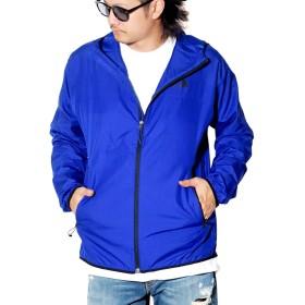 [ザノースフェイス] ウィンドシェル ジャケット メンズ パッカブル マウンテンパーカー 軽量 NF0A3EQ5 ブルー L [並行輸入品]