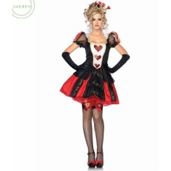 ハロウィンセクシーハートトランプ女王クイーンレディース衣装 コスプレイベント衣装舞台衣装ワンピステージ服クリスマス