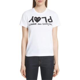 [コムデギャルソン] レディース Tシャツ Comme des Garons PLAY Logo Tee [並行輸入品]