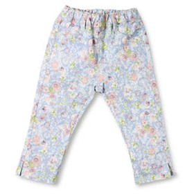 【ブランシェス:パンツ】プレミアムストレッチ花柄パンツ