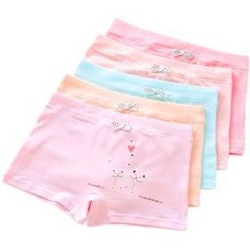 女の子 パンツ 女児 下着 綿 ショーツ ボクサーショーツ ガールズ ジュニア 5枚セット (B, 9-11 歳)