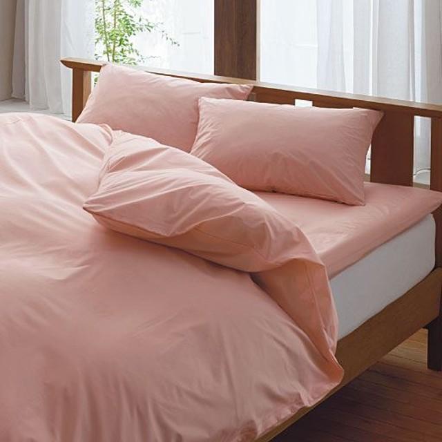 枕カバー(同色2枚組)(高密度タイプ防ダニ) - セシール ■カラー:ソフトピンク サックス アイボリー ■サイズ:L(63×43cm)