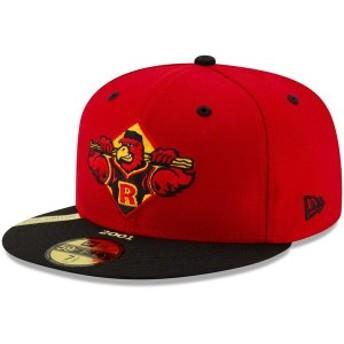 ニューエラ メンズ 帽子 アクセサリー Rochester Red Wings New Era 100th Anniversary Patch 59FIFTY Fitted Hat Red