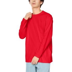[プリントスター] 長袖 5.6オンス CVL ヘビーウェイト Tシャツ 00102-CVL レッド 日本 150cm (日本サイズ150 相当)