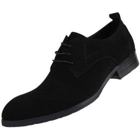 [WEWIN] ビジネスシューズ メンズ 紳士靴 革靴 本革 スエード 外羽根 ロングノーズ ドレスシューズ レースアップシューズ フォーマル 冠婚葬祭 普段用 履きやすい 防滑 おしゃれ