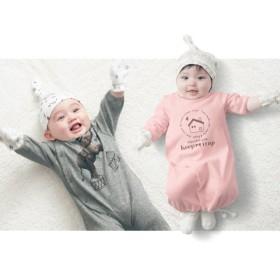 ベビー服 ツーウェイドレス ツーウェイオール【ベビー服 新生児】【男の子 女の子】 「杢グレー(アニマル)」