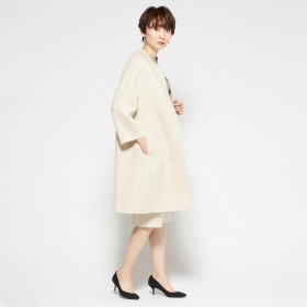 MADISONBLUE(マディソンブルー)/REVER BOTTLE NECK DROP SHOLDER COAT