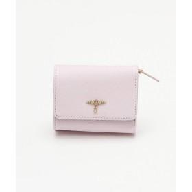 [ アフタヌーンティー リビング ] AfternoonTea LIVING ワンチャーム本革三つ折り財布 ピンク