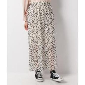 前釦花柄スカート