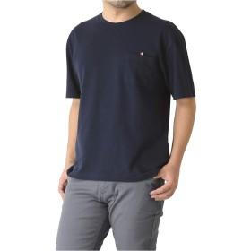 (リミテッドセレクト) LIMITED SELECT M15 カットソー メンズ 半袖 ビッグシルエット ポケ付き 無地 tシャツ RH2-0937 LL F-ネイビー-71