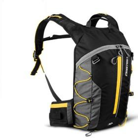 ハイドレーションパック ランニングバッグ 登山リュックサック マラソンリュック デイパック バックパック大容量 給水 リュック バッグ 自転車 サイクリング 10L大容量 収納可 通気 アウトドア 収納袋付き (ブラック+イエロー)
