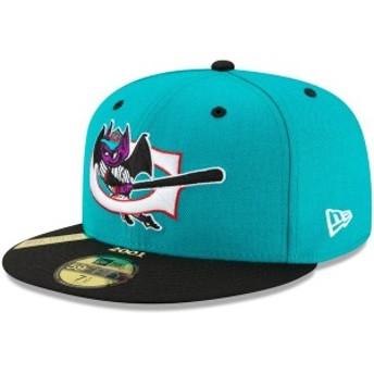 ニューエラ メンズ 帽子 アクセサリー Greensboro Bats New Era 100th Anniversary Patch 59FIFTY Fitted Hat Teal