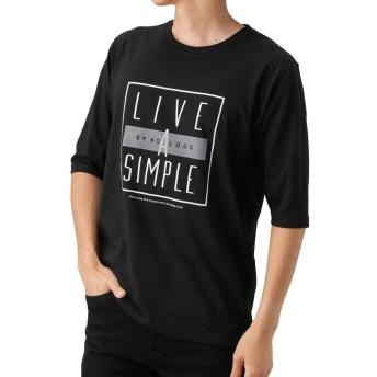 T-GRAPHICS(ティーグラフィックス) オールスター五分袖Tシャツ ロングTシャツ ロンT 五分袖 長袖 EJ185-MC105 メンズ ブラック:L
